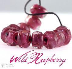 Wild Raspberry Seeds (12)  Handmade glass Lampwork Beads. http://tophatter.com/auctions/20220