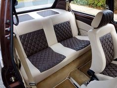 Classic Car News Pics And Videos From Around The World Vw Mk1, Volkswagen Golf, Vw Cabriolet, Leather Car Seat Covers, Golf Mk2, Camper Interior, Vw Beetles, Sport Cars, Dream Cars
