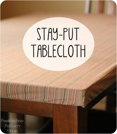 Amy from Peek-a-Boo Pattern Shop shows how you can make a tablecloth that stays put.Instead of a flat piece of fabric draped over a table (which can be easily pulled off!), this stay put tableclot…