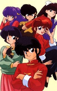 Ranma 1/2.  First anime I remember particularly liking (unsubbed, and I didn't speak Japanese yet, but still was funny!)