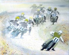Holeshot - Original painting reproduction print. $25.00, via Etsy.