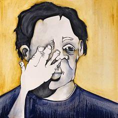 """Shy Boy"" by Kate Kreps. 2015. Oil on canvas. 24""x 24"""