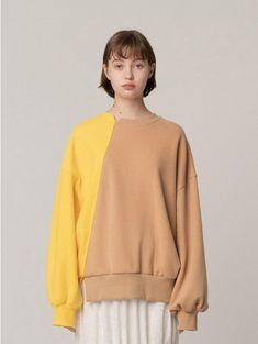 R Diagonal Color Block Sweatshirt Rainbow Sweater, Shirt Print Design, Japan Fashion, Fashion Outfits, Womens Fashion, Dress To Impress, Ideias Fashion, Knitwear, Street Wear