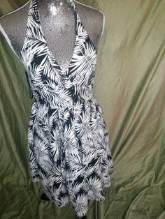 Size 6 palm print dress