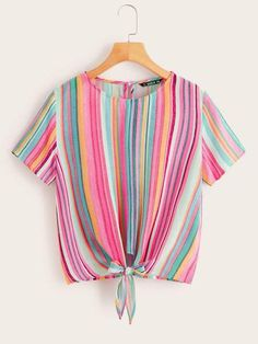 Color:                                                    Multicolor Details:                                                    Button, Knot Fabric:                                                    Fabric has no stretch Fit Type:                                                    Regular Fit Length:                                                    Regular Composition:                                                    100% Rayon Neckline…