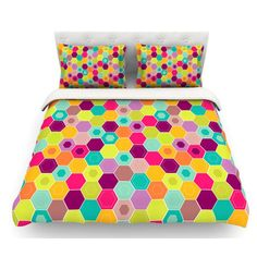 East Urban Home Arabian Bee by Nicole Ketchum Featherweight Duvet Cover Size: