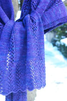 Ravelry: Mo Shawl pattern by Casapinka Knit Or Crochet, Lace Knitting, Crochet Shawl, Knit Lace, Knitted Shawls, Knitted Scarves, Periwinkle Blue, Purple, Shawls And Wraps