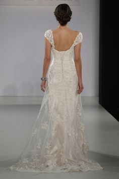 Maggie Sottero - Bridal Fall 2013    TAGS:Embroidered, Floor-length, Short sleeves, Cream, Maggie Sottero, Lace, Glamour