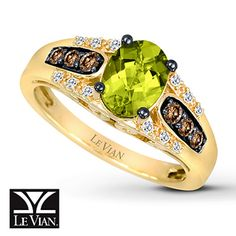 Le Vian Peridot Ring Chocolate Diamonds® 14K Honey Gold™