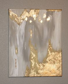 Gold Touch 36x48 original abstract painting on by HLWDesignShop