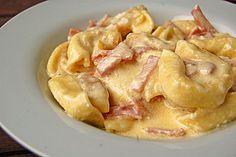Tortellini alla panna Schinken-Sahnesauce wie beim Italiener
