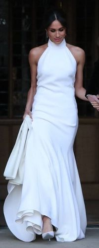 19 May 2018 - Meghan Markle in Stella McCartney for royal wedding reception
