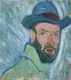 Hans Berger (Swiss, Selbstbildnis [Self-portrait], Oil on canvas, 45 x 41 cm. Selfies, Hats For Men, Art Boards, Oil On Canvas, Art Projects, Art Pieces, Creative, Illustration, Image