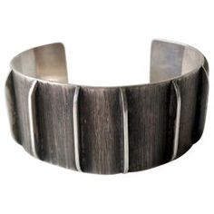 Jean Lasnier Oxidized Sterling Silver San Francisco Bracelet