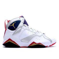 05dc21da031a 304775 135 Air Jordan 7 (VII) Olympic 2012 White Metallic Gold Obsidian  True Red Men Women GS Girls)