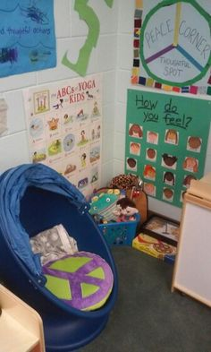 the result of my Lokoff award grant, the Peace Corner - Thoughtful Spot, for kids who just need to take a break, think, calm down, focus, breathe, or just be for a bit. the spot is for encouraging mindfulness and resilience in the children.