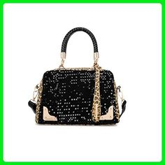 Donalworld Women Leopart Tassel paillette Manmade Leather Handbag (Black2)  - Top handle bags ( 10b62139d254d