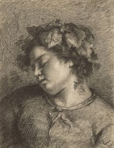 Gustave Courbet   French, 1847   Conté crayon