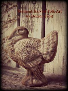 Large Blackened Beeswax Tom Turkey  ©2000-2013 Doreen Frost ~ Vermont Harvest Folk Art