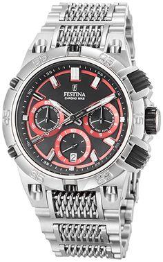 Montre Homme Festina - Quartz Chronographe - F16774/8 - Bracelet et Cadran en Acier inoxydable Argent - Date et Chronomètre