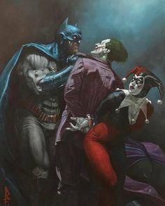 Drawing Dc Comics Batman The Joker Harley Quinn Heros Comics, Dc Comics Art, Batman The Dark Knight, Batman Vs Superman, Batman Art, Comic Kunst, Comic Art, Comic Books, Marvel Vs