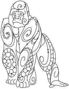 The Delicate Ones - Gorilla design (UTH10760) from UrbanThreads.com