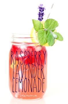 Today, for Color Your Summer, I'm celebrating PURPLE and incorporating my favorite purple plant in my favorite summer drink. Not to worry…it doesn't taste like a spa treatment. ;) It's a refreshing raspberry lemonade with that extra special touch. Just a little something that adds an extra note of deliciousness. Lavender being that special something of course, that complements the lemon and raspberry just right.