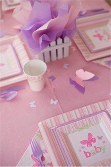 Butterfly Theme Baby Shower Party Supplies