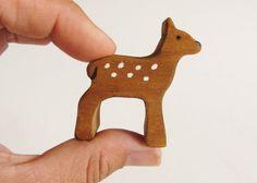 Renos de madera Set familia ciervo juguete waldorf de figuras