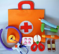 NewDIY Felt Medical bag Doctor SetPDF Pattern via by fairyfox, $6.99