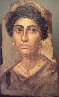 Portrait of the 1st century AD ✋Mummy portraits or Fayum mummy