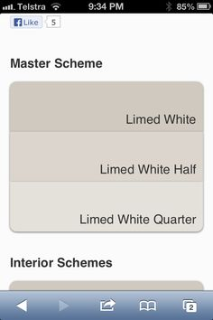 Dulux limed white currently have full but thinking half or quarter Interior Color Schemes, Kitchen Colour Schemes, House Color Schemes, Interior Paint Colors, Exterior House Colors, Exterior Paint, Dulux Paint, Wall Colors, Paint Colours