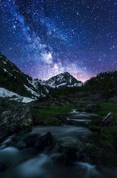 Milky Way! by Corrado Cocco Gandolfo Via Lattea sopra al monte Malinvern in Valle Stura provincia di Cuneo.