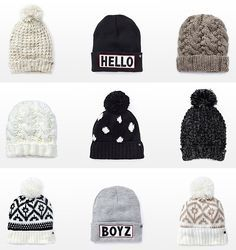 3e6c211b Look at this cool beanies! I think girls looks so cooll when they use  beanies? IOUTRE · Statement Beanies/ Hats