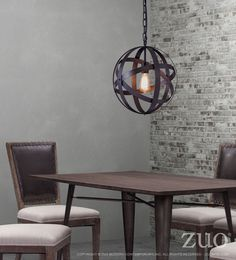 Zuo Modern 98418  Plymouth Ceiling Lamp Rust