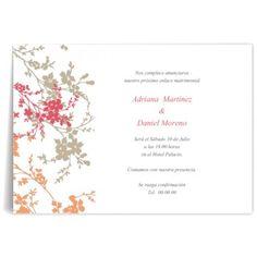 Invitaciones de boda Floreada