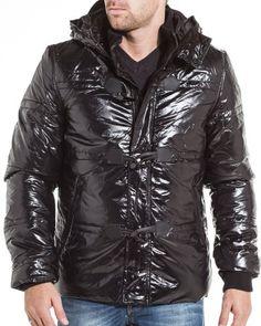 Gov denim – winter jacket Men Hooded Black