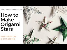 Join Rhoda as she makes Origami Stars from This Christmas, the lovely specialty paper by Stampin' Up! Christmas Origami, Christmas Paper, Go Create, How To Make Origami, Origami Stars, Specialty Paper, Stampin Up, Special Occasion, Garden