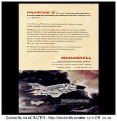 McDonnell Phantom II Advert. From Interavia Magazine, 1961.
