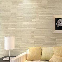 Barato Papel de parede metálica de riscas moderno não   tecido de fundo papel de parede rolo para sala de estar, Compro Qualidade Papéis de parede diretamente de fornecedores da China:                  Modelo: 652       Material: acabamento não tecido