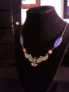 Wonder Woman inspired patriotic necklace by HeroicHeartsDesigns, $35.00