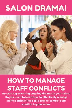 Are you experiencing ongoing dramas in your salon? Do you need to learn how to effectively manage staff conflicts? Well, you've come to the right place! Unfortunately, every workplace in every industry is rife with bickering employees. With a sprinkling of different personalities, ages, races, religion, there are sure to be some basic disagreements. But throw in a pinch of competition, a handful of stress, and a busy schedule, and you have a Petrie dish for growing drama and conflict