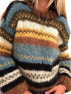 Warm Sweaters, Cardigan Sweaters For Women, Casual Sweaters, Girls Sweaters, Vintage Sweaters, Sweater Dresses, Poncho Sweater, Loose Sweater, Long Sleeve Sweater