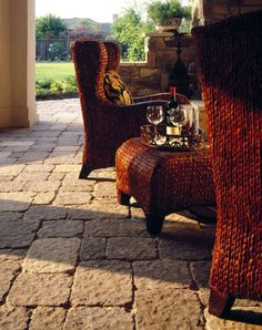 These Patio Stones Make A Modern Setting Seem Old World At The Same Time.  Www