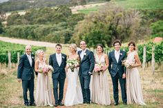 A gorgeous colour palette for this wedding party.  elegant bridal party - photo by Natasja Kremers  ruffledblog.com