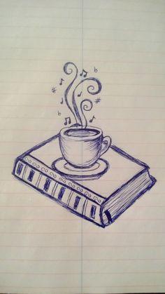 Coffee cup & book idea #2