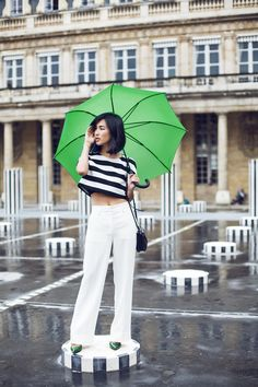 White trousers are a summer staple.