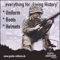 Everything for living history and reenactment. Military Boots, caps and hats, Uniforms, jackets, trousers, daggers and knives, steel helmets, badges and insignia and much more! german Wehrmacht, US Army etc. / mehr Infos auf: www.Guntia-Militaria-Shop.de