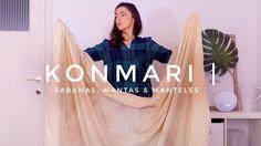 Cómo doblar Sábanas, Mantas y Manteles | Método KonMari | Por MArie Kondo