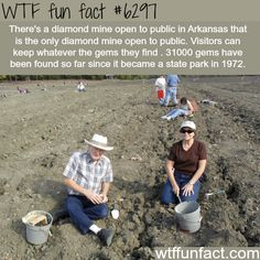 Public diamond mine in Arkansas - WTF fun facts #FunFacts